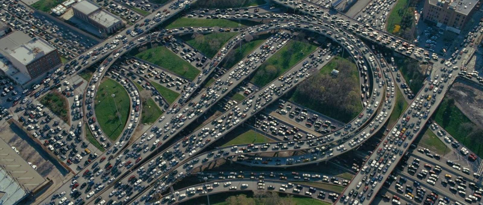Benefits of content marketing Los Angeles traffic jam
