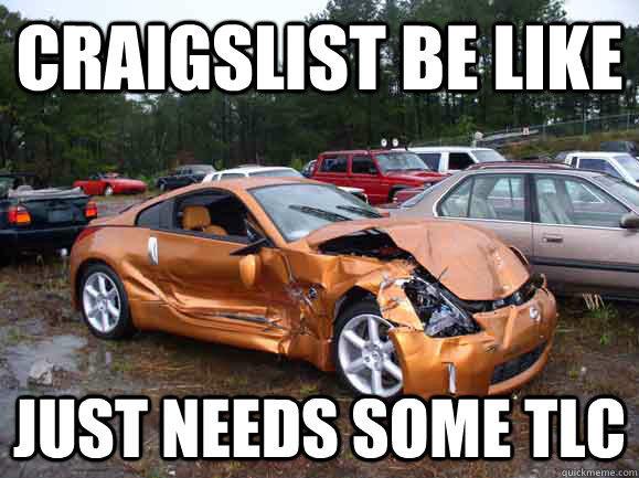Best PPC ad copywriting advice ever junk car Craigslist meme