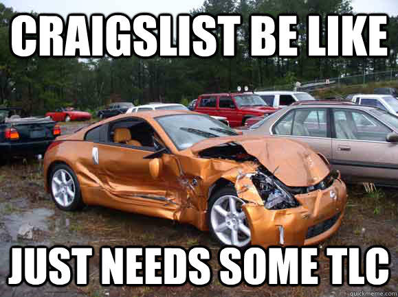 Best PPC ad copywriting advice ever junk car Craigslist meme