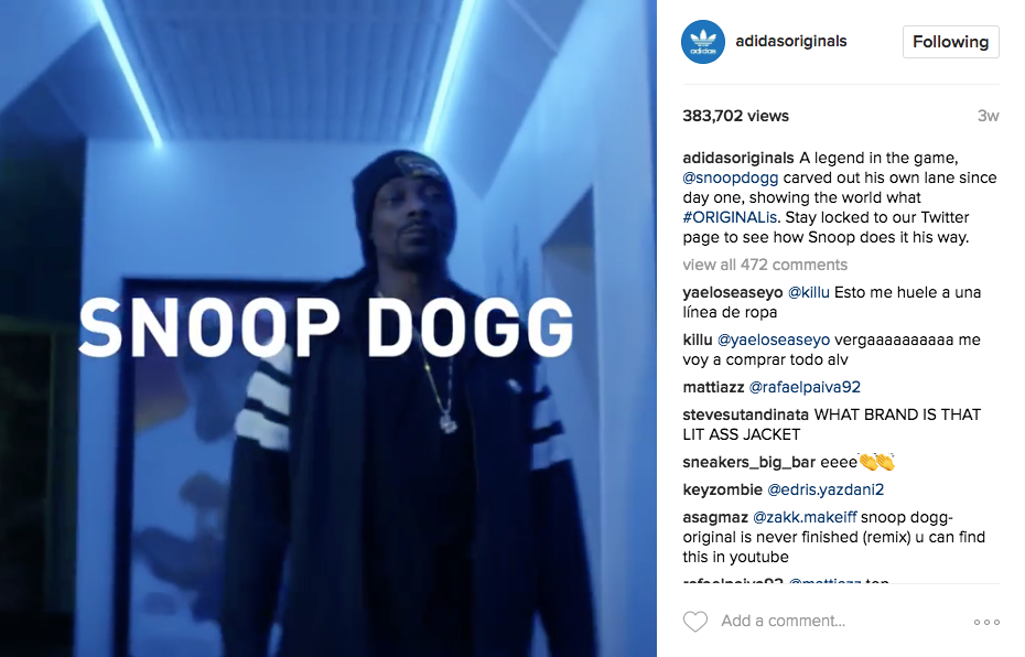 Best Instagram marketing campaigns Adidas Snoop Dogg