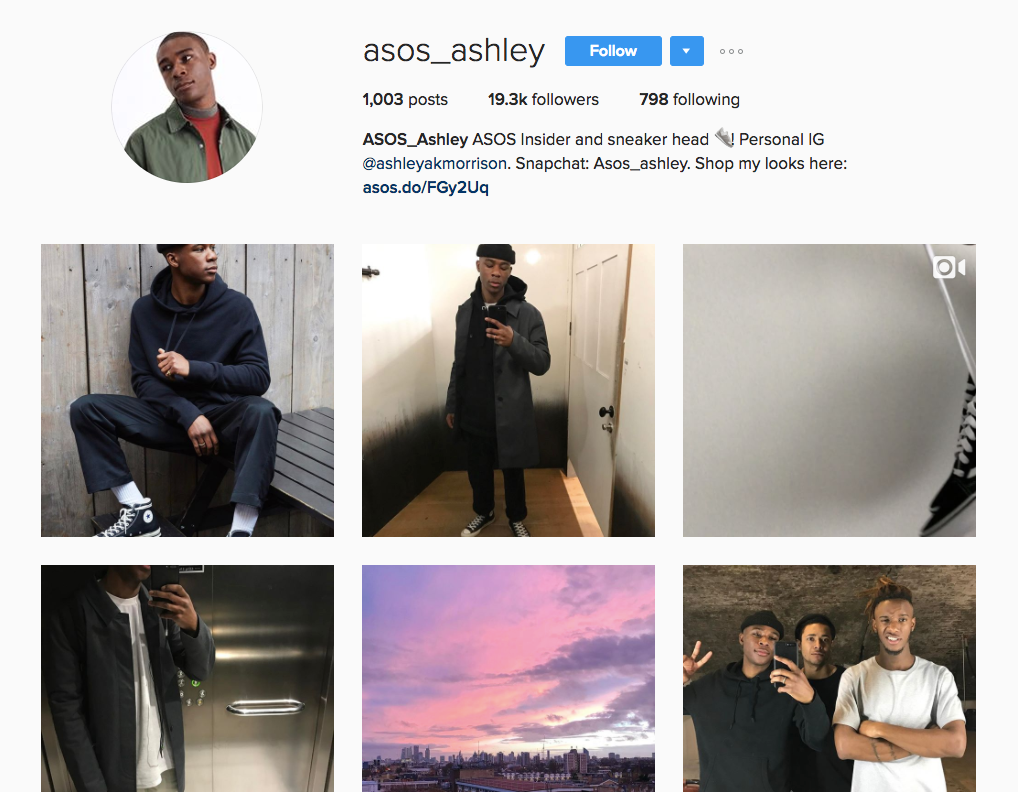 Best Instagram marketing campaigns Asos