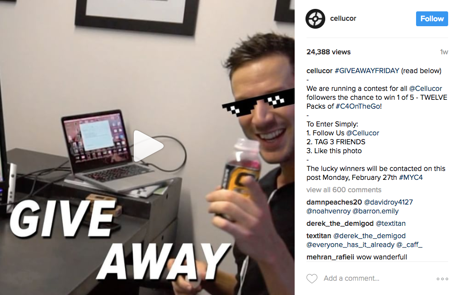 Best Instagram marketing campaigns Cellucor