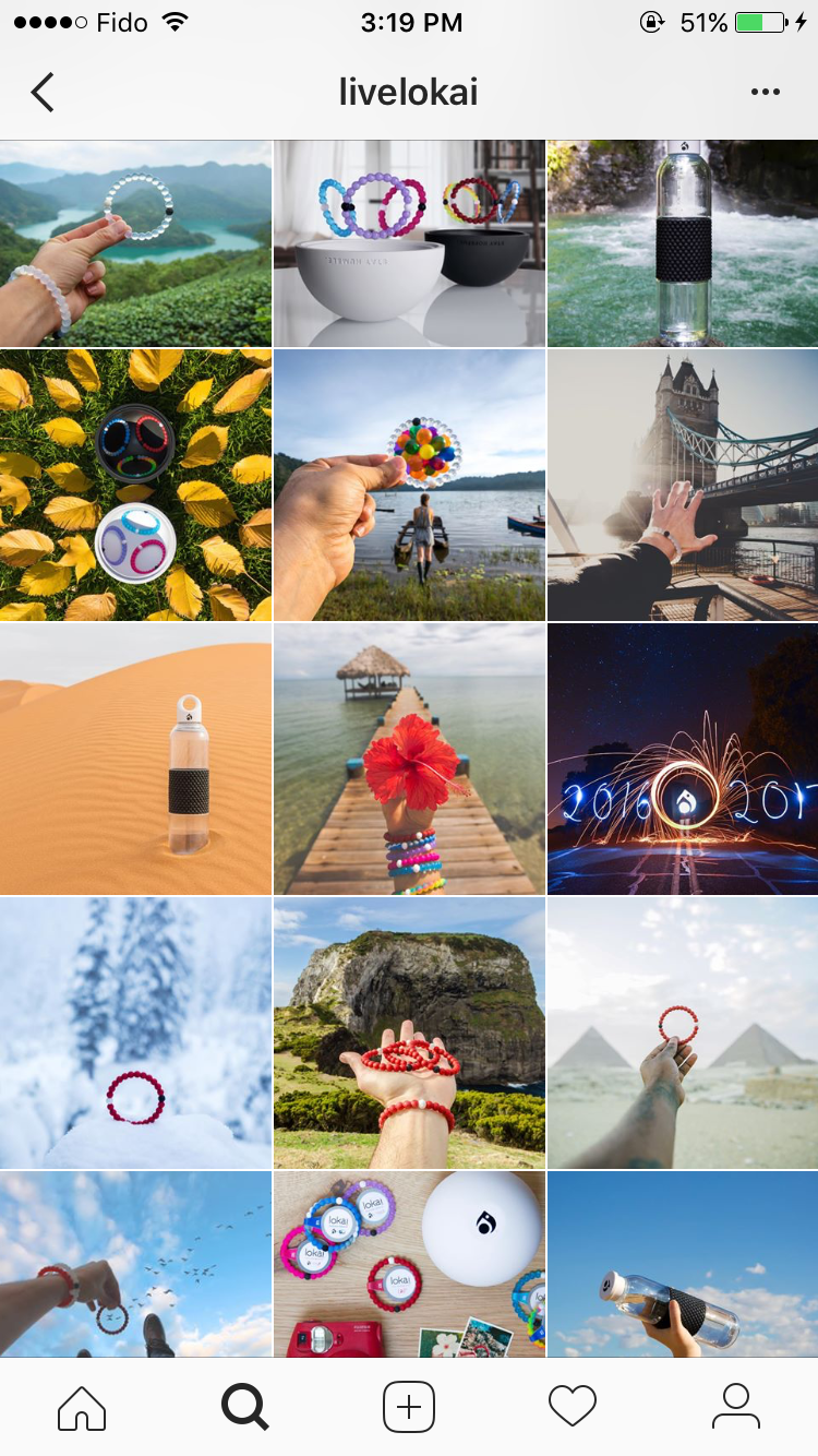 Best Instagram marketing campaigns Lokai