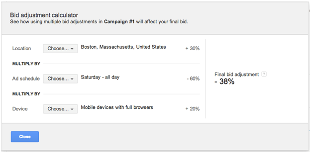 AdWords Bid Adjustment Math
