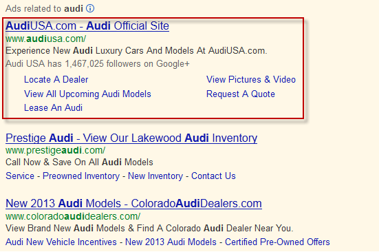 Brand Search PPC Ad