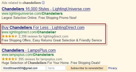 PPC Ad Example