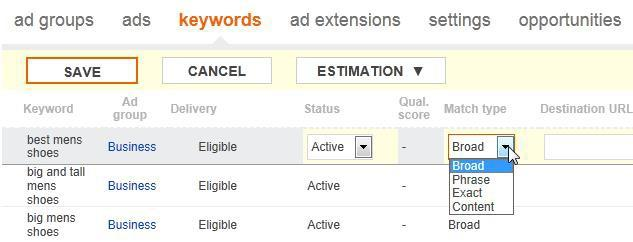 Bing Ads keyword tools