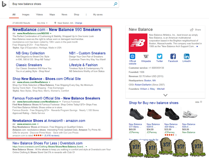 bing removes sidebar ads from the serp