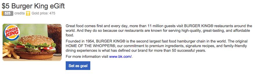 Bing Rewards eGifts