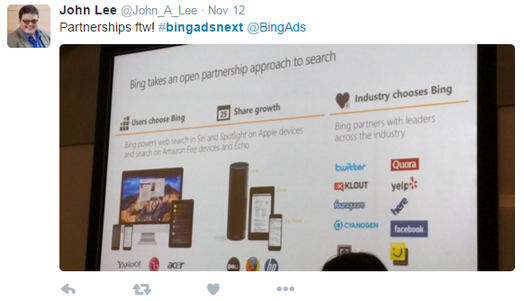 bing partnerships