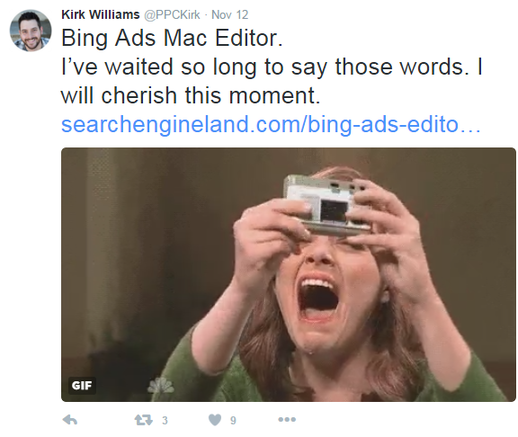 bingads editor twitter hype