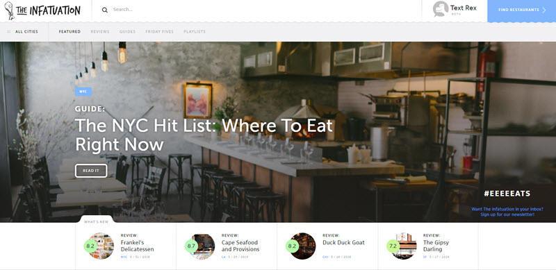 Blog design trends hero images example