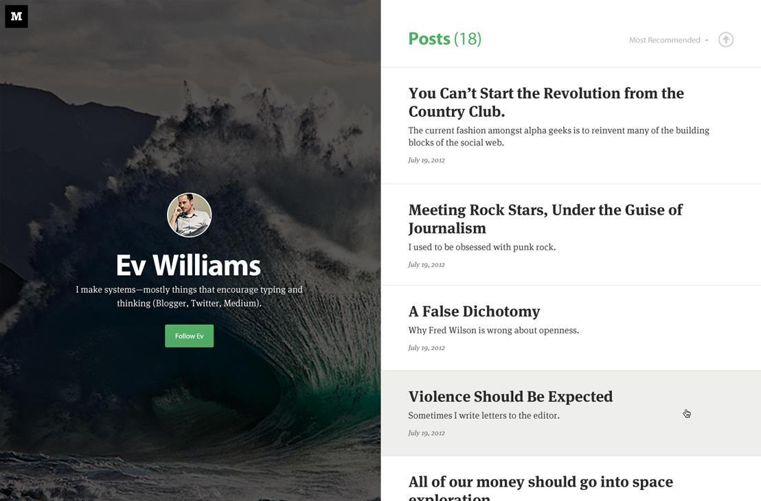 Blog design trends Medium-style minimalism