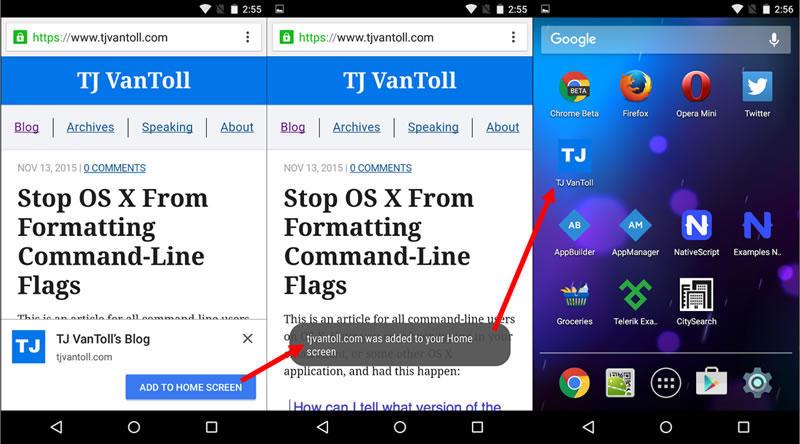 Blog design trends progressive web apps