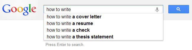 google suggestions for blogging