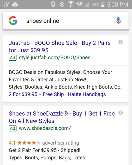 mobile ad bogo offers
