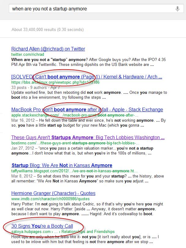 Fishy Google Results