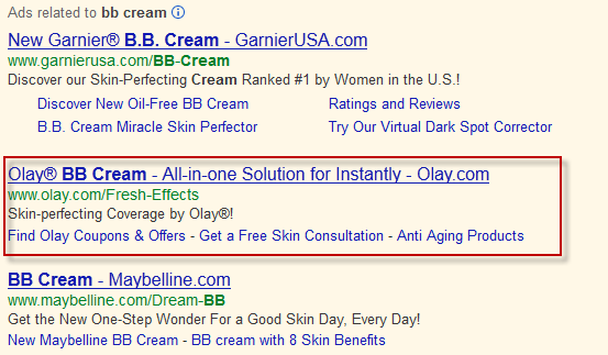 Branded AdWords Ad