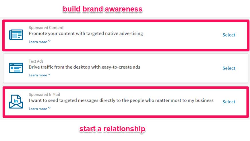 linkedin brand awareness campaign