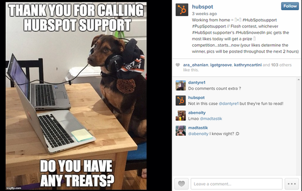 Brand marketing HubSpot Instagram post