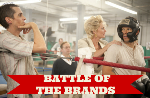 "Brand marketing image from The Fighter reading ""Battle of the Brands."""