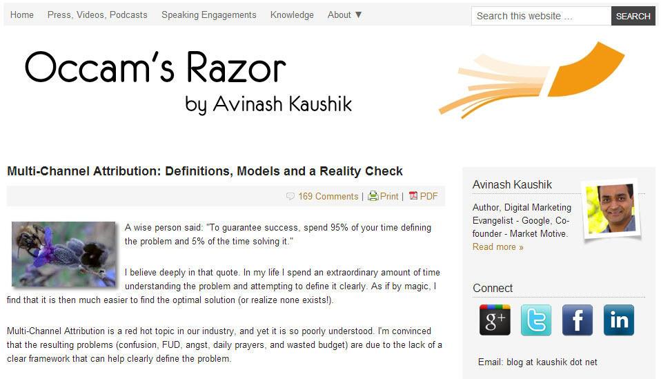Brand voice Avinash Kaushik blog