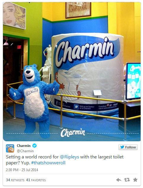 Brand voice Charmin tweet