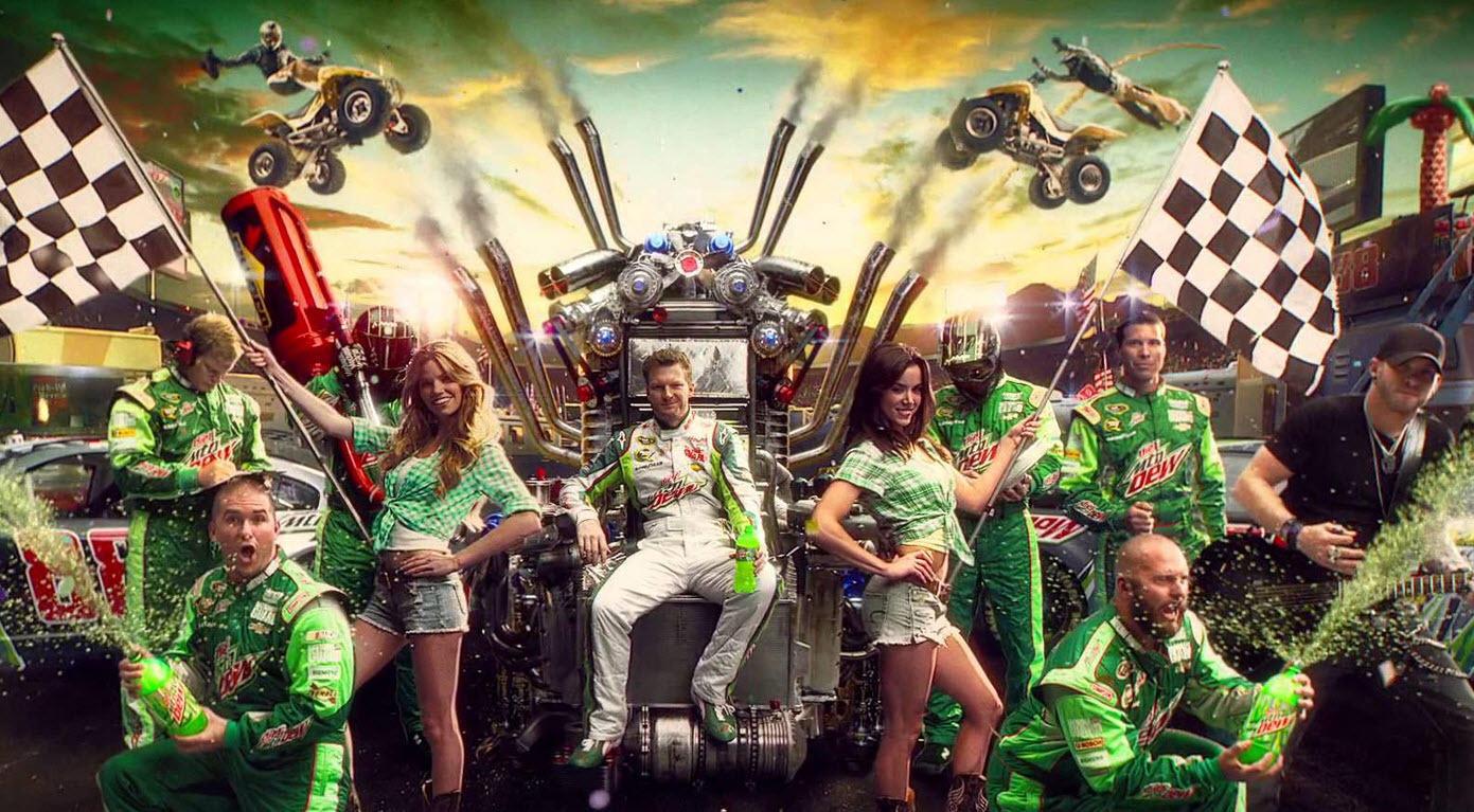 Brand voice Mountain Dew NASCAR promo