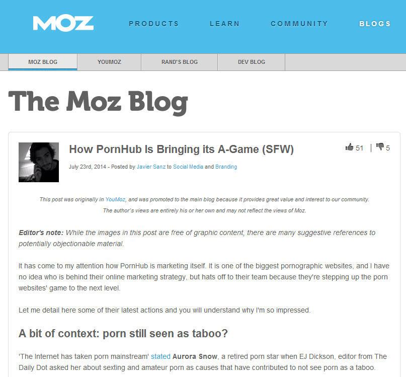Brand voice Moz blog post