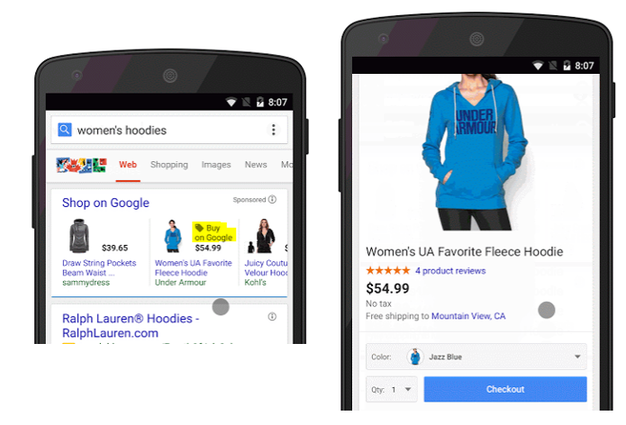 Buy button example of how it'll look on Google