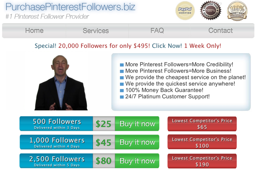 Buy Pinterest Followers