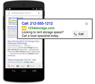call only ad mobile serp cutout