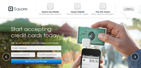 call to action examples get free card reader