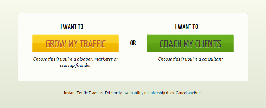"""Call to action marketing use the """"I want to..."""" principle"""