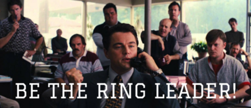 "Call tracking image saying ""be the ring leader."""