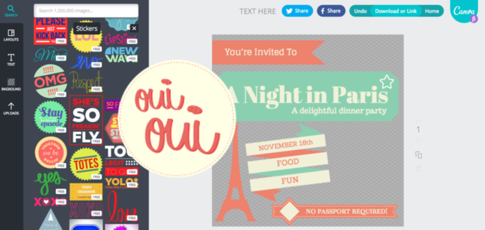 creating images with canva
