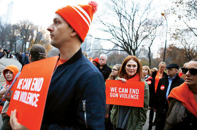 Cause-based marketing Everytown for Gun Violence rally Julianne Moore