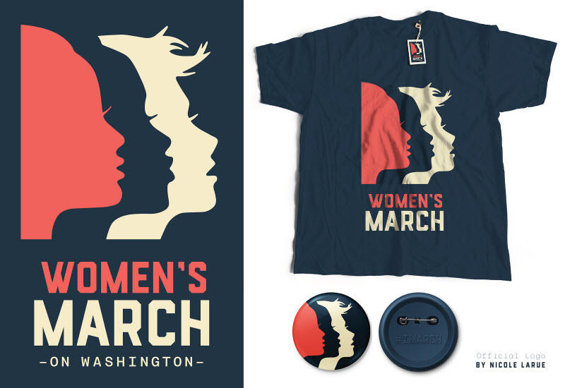Cause-based marketing Womens March branding logos