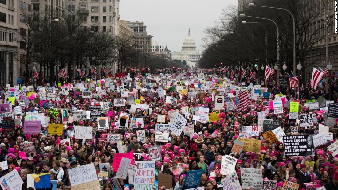 Cause-based marketing Womens March Washington DC 2017 CNN