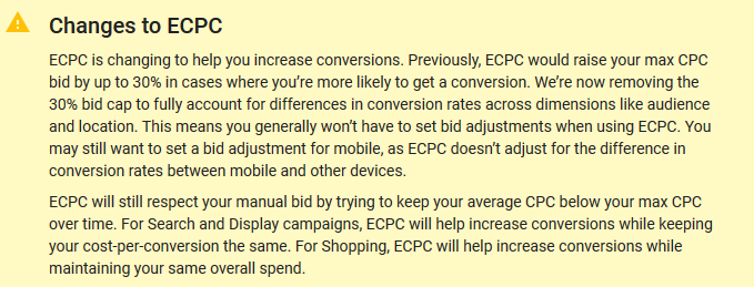 changes to enhanced cpc bidding adwords 2017