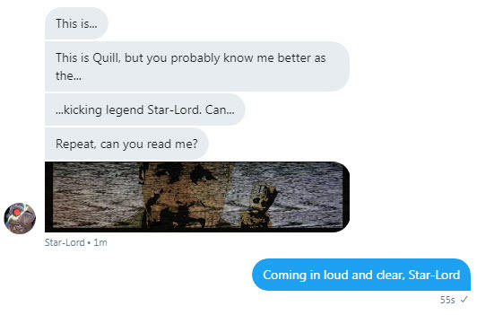 Chatbots Marvel Starlord chatbot