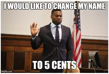 50 cent changing name to 5 cent