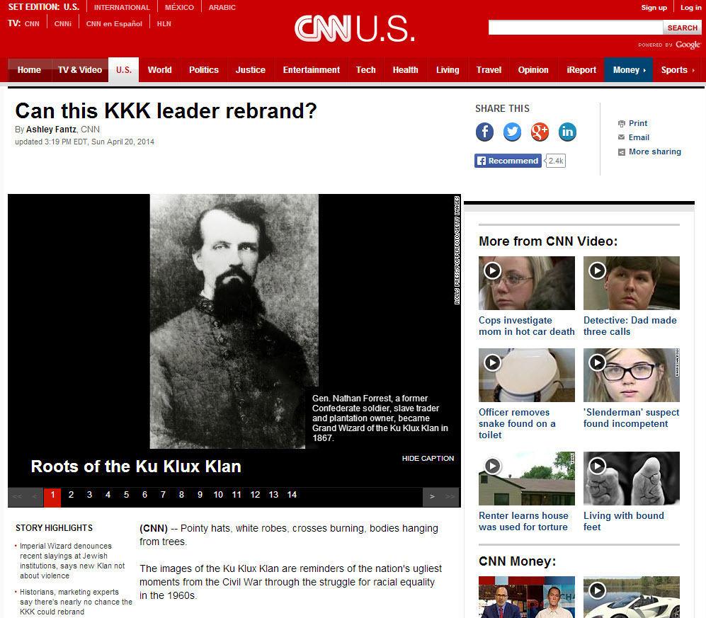 Clickbait CNN KKK rebrand