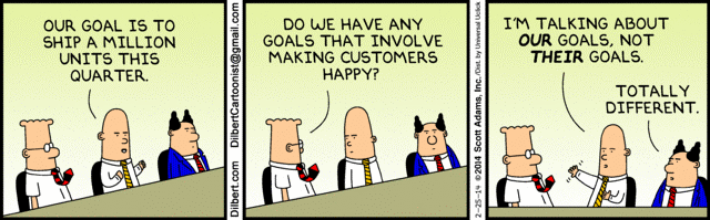comic strip on client goals