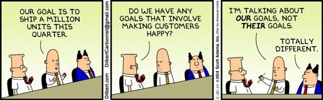 comic strip on client goals