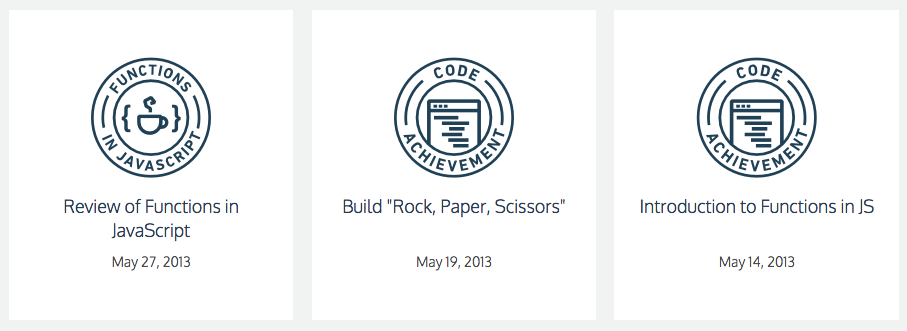 code academy badges