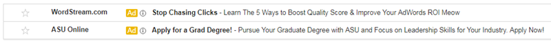 collapsed gmail ad for email remarketing