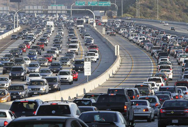 Commercial intent keywords Los Angeles freeway gridlock