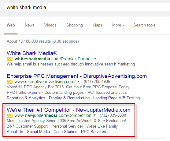 competitive ppc ads