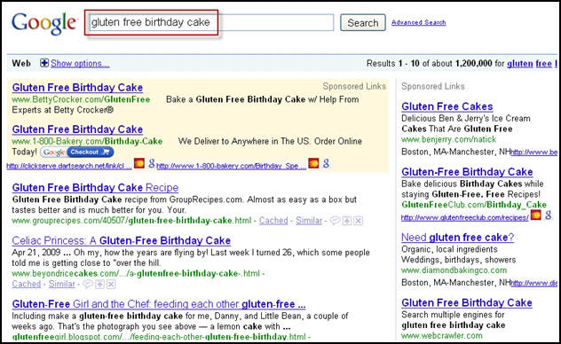 Competitive PPC Search Results